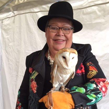 kinga garner with owl